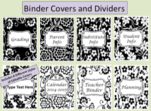 http://www.teacherspayteachers.com/Product/BlackWhite-Editable-Teacher-Binder-and-Organizer-1351124